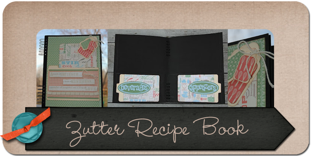 JulieK, Zutter, Recipe book, paper crafts